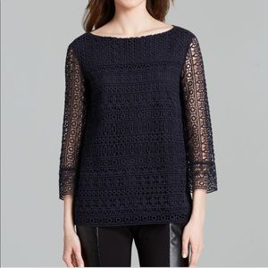 Tory burch harlow crochet lace top